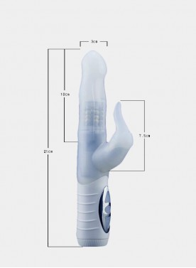 White Realistic Dildo Penis Vibrator Rabbit Vibrator  Clitoris Stimulat Massager Transparent Rotating Beads Sex Toys For Women
