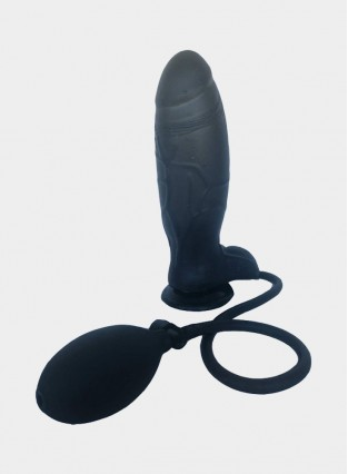 "8.7"" Inflatable Dildo Black"