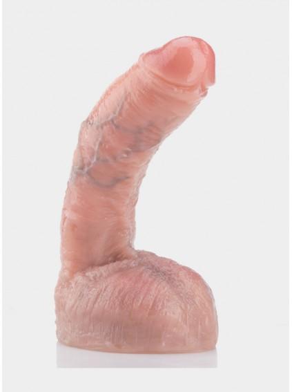 "8.8"" Ultra-soft Silicone Dildo Lifelike Vein Superior Penis Bendable"