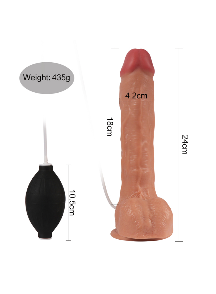 Ejaculating Dildo Silicone Bendable Cock
