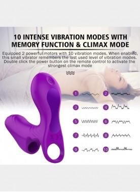 Finger Vibrator With 10 Vibration Mode Dual Motors G spot Vibrator Clitoral Stimulator Vagina Wireless Remote Control Couple Sex Toys