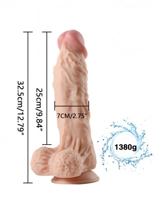 King Cock 13 inch Realistic Dildo With Balls & Suction Cup
