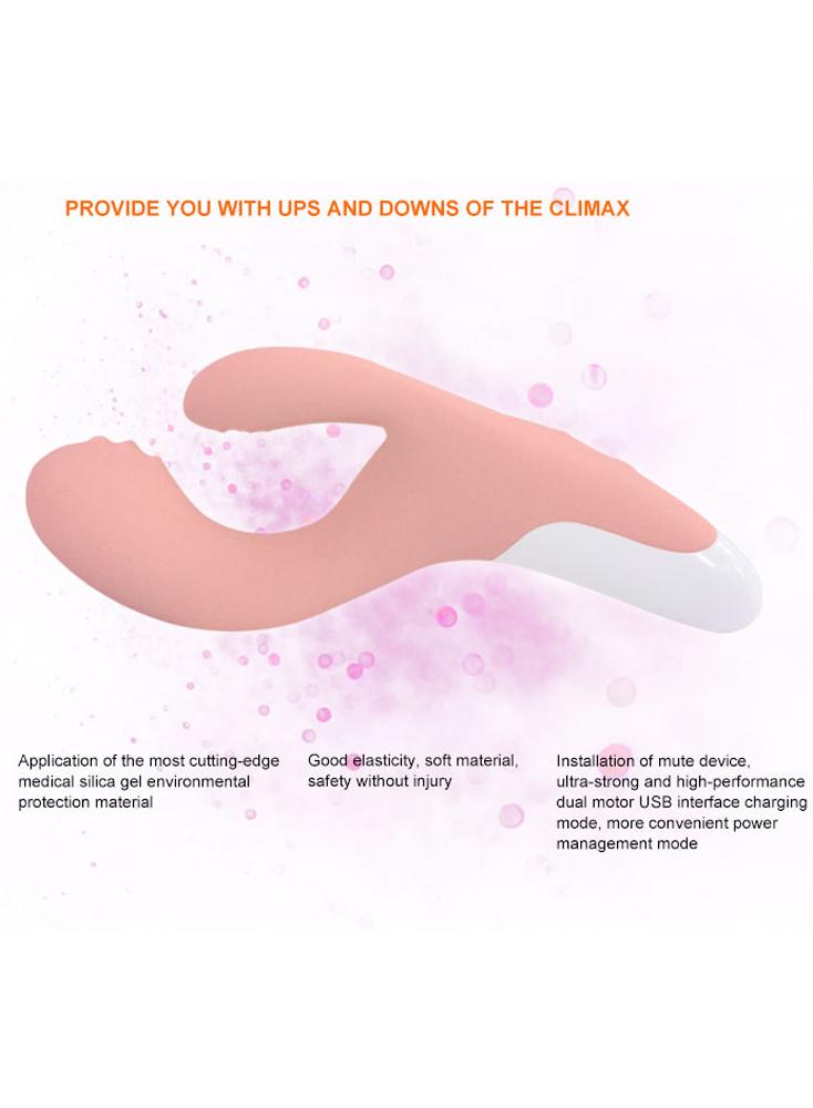 Rabbit Vibrator G-spot 3 Motors Clitoral Vaginal Stimulator 10 Vibration