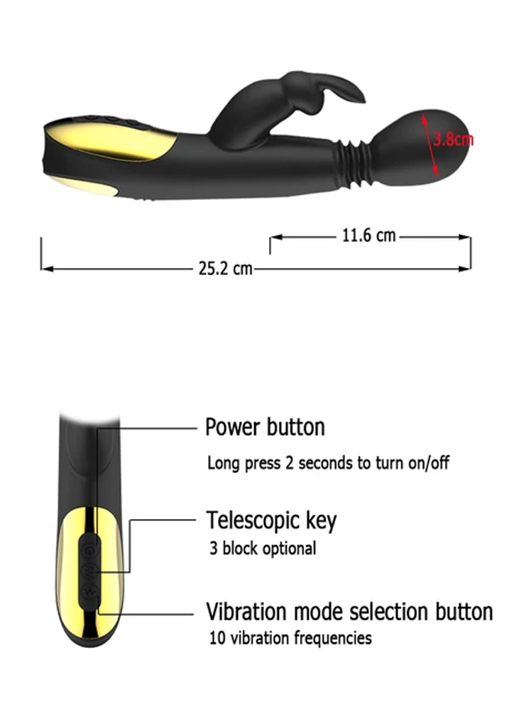 Rabbit Vibrator Thrusting Heating