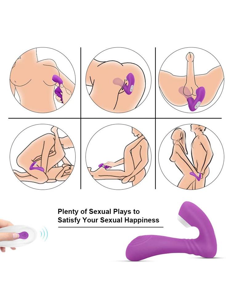 Sucking Vibrator Clitoral Vibrator G-Spot Wearable Dildo Wireless Remote Control Couples Women Vibrator 2 in 1 Oral Sucking & Vibrating Adult Sex Toy