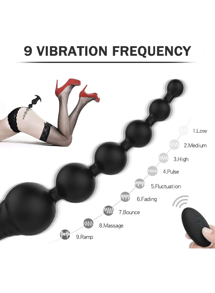 Vibrating Anal Beads Rechargeable Waterproof