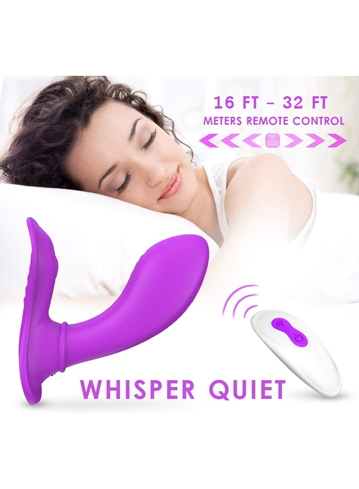 Wearable Vibrator Clit Stimulator Wireless Remote Control 9 Vibration Speeds