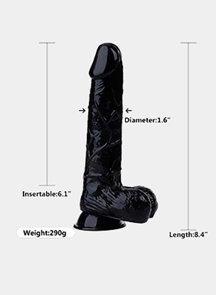 8 Inch Black Dick Penis Massage For Women Masturbation For Female Realistic Dildo With Ball Sex Toys For Women Men Gay Sex