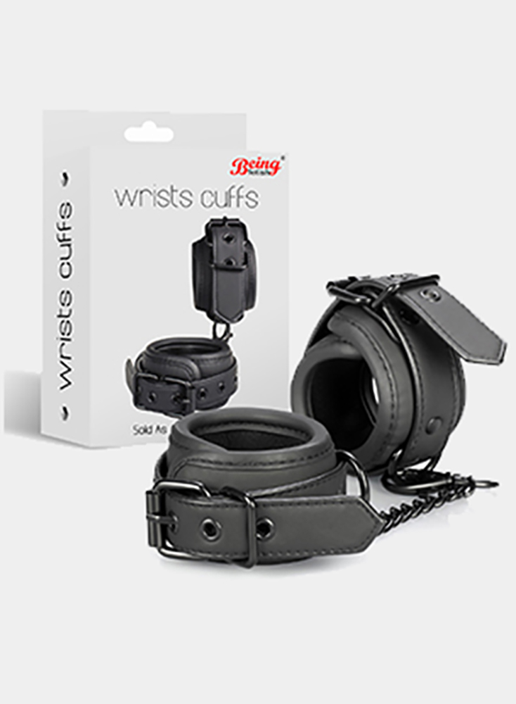 Black Restraints Handcuffs PU leather Bdsm Bondage Hand Cuffs For Sex Adult Games For Couples