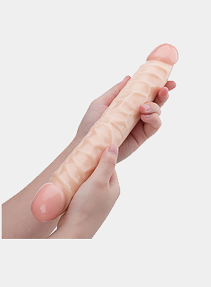 11 Inch PVC Huge Big Realistic Dildo G-Point Double Penis Head Flesh Masturbation Super  Adult Sex Toys for Women Or Couple