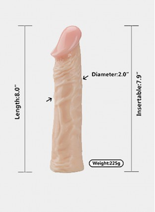 G-Spot Big Dildo Soft PVC Penis Flesh-Colored Realistic Cock Clitoris Stimulation 7.8 Inch Slim Dildo Sex Toys for Women