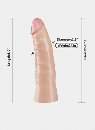 PVC Simulation Big Penis G Spot Stimulation Big Penis Can Receive Bullet Vibrator Dildo Suitable For Female Masturbation