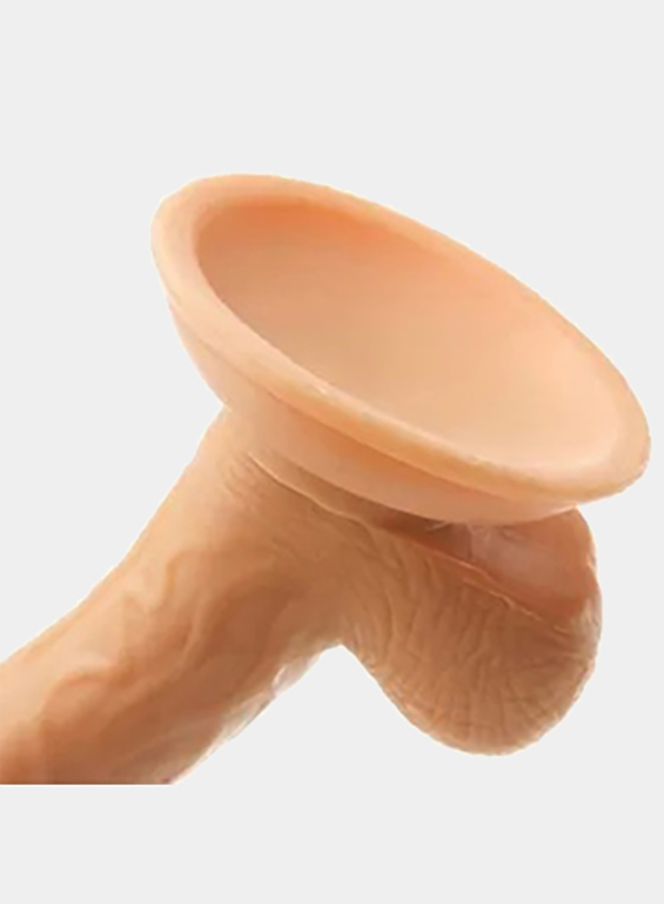 5 Inch Mini Whopper Curved Dong with Balls