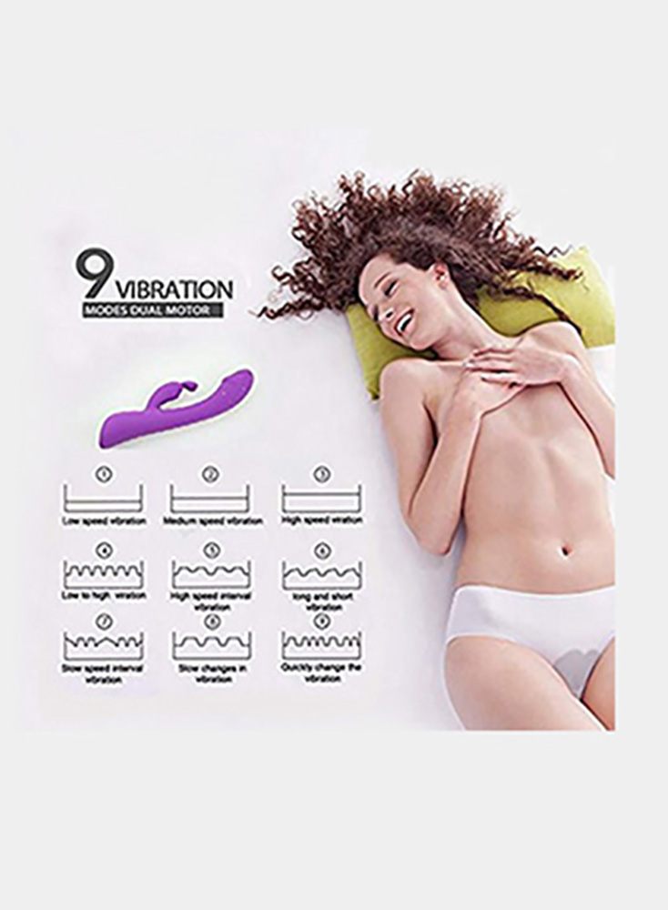 G Spot Rabbit Vibrator with Bunny Ears for Clitoris Stimulation