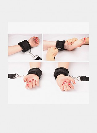 Bed Restraints for Sex Play Adjustable Straps. Furry Cuffs handcuffs. Bondage Ankles Wrists feet legs. BDSM Bondageromance kit