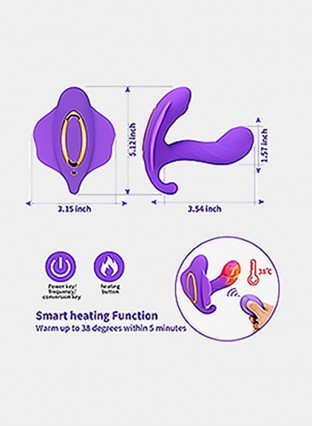 Female Wearable Butterfly Vibrator with Wireless Remote Control G Spot Clitoral Stimulator Massager,Strap on Vibrating Panties Vibrators 10 Speed Heating Vibration Sex Toys for Women and Couples