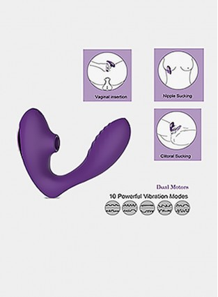 Clitoral Sucking Vibrator, G Spot Clit Dildo Vibrators Waterproof, Rechargeable Clitoris Stimulator with 10 Suction Vibration Patterns Sex Toys for Women