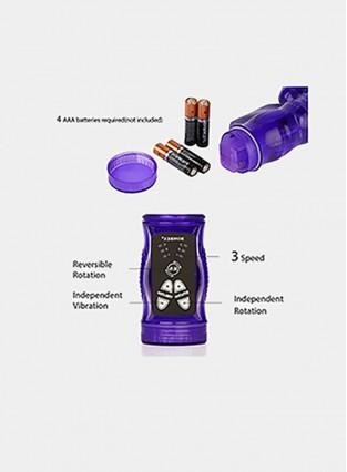 Rabbit Vibrator,Clitoral G-Spot Stimulator,Masturbation Vibe,Rotating Beaded Adult Massager for Women Female Beginner