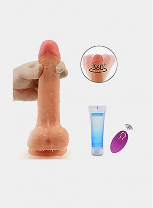 10 Vibration for Women Orgasm Vibrating 360°Swirling Dildo Wireless Remote Penis