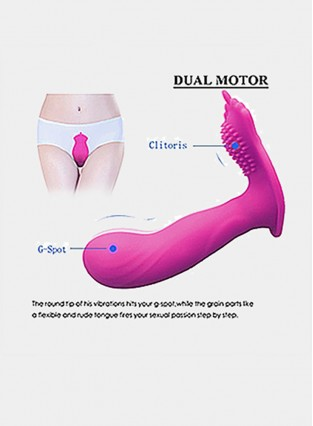 Vibrator Clitoris and G-Spot Stimulator Remote Control Vibrate MasturbationToys for Adult