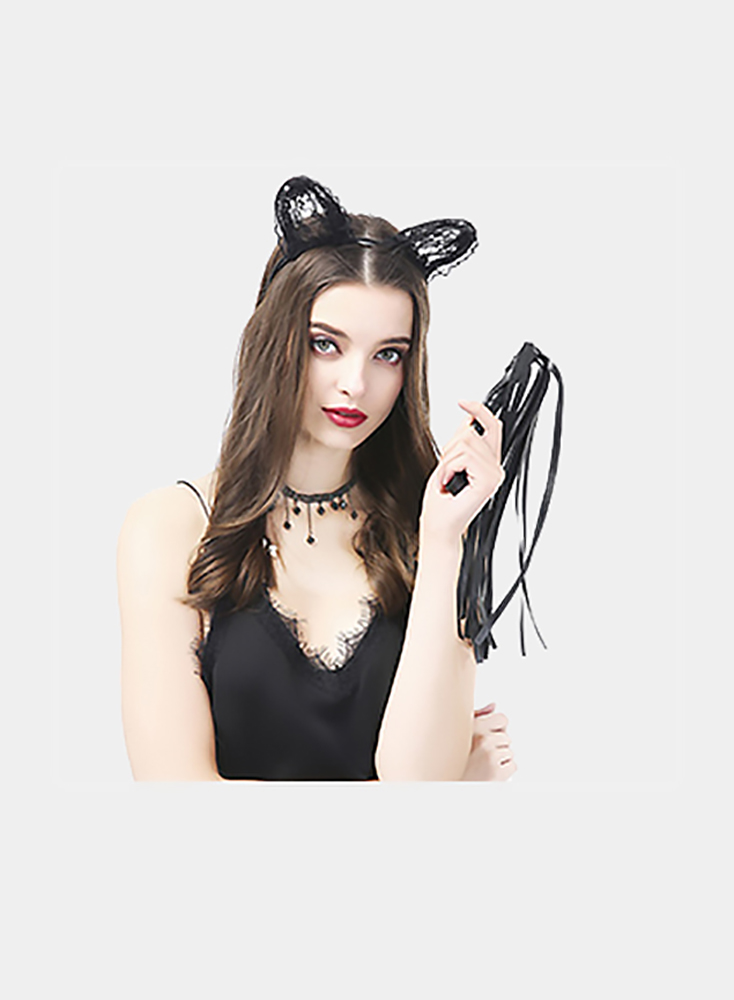 Sexy Black Bows Lace Cat Ears Women Fashion Accessories Decoration Bachelor Party