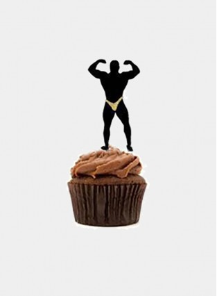 Strong man Cake Decoration Creative Party Bachelor Night Party Decor Accessories 12pcs/Set