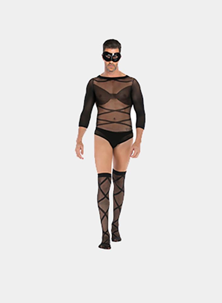 Sexy Wearing Stockings Mens Bdsm Sex Bondage Bachelor Party Shirt