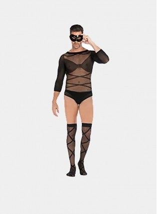 Sexy Wearing Stockings Mens Bdsm Sex Bondage Bachelor Party Shirt