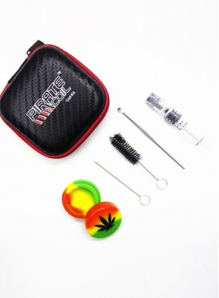 Dry Burned Tobacco / Smoke Paste / Cannabis Oil / CBD Accessories Combination Portable Storage Kit Set